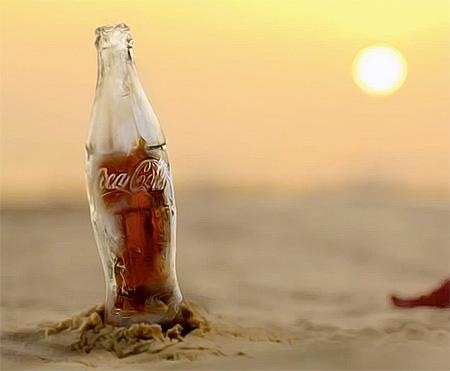 Coca-Cola Botella de Hielo