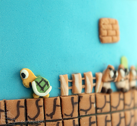Super Mario Bros Inspired Cake