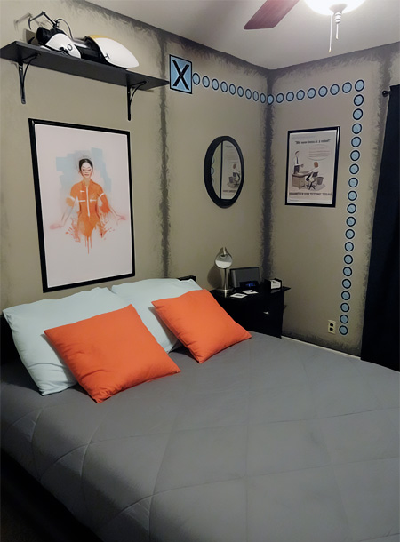 Portal 2 Themed Bedroom