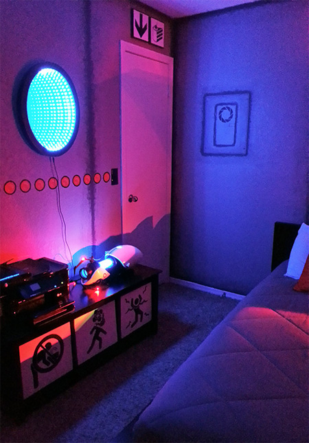 Portal 2 Themed Room