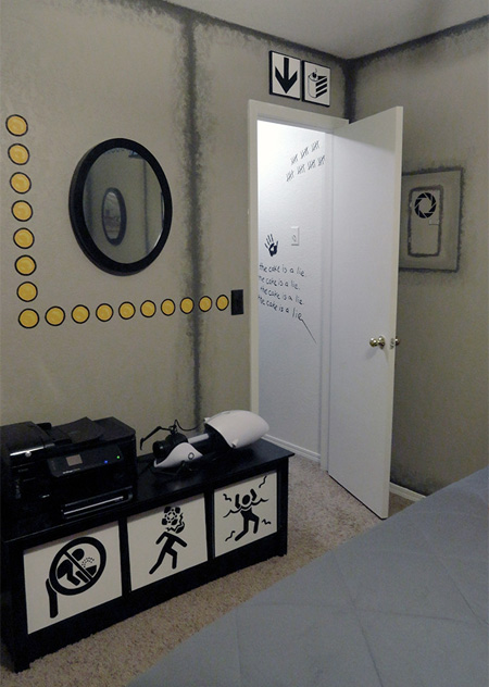 Portal Themed Room