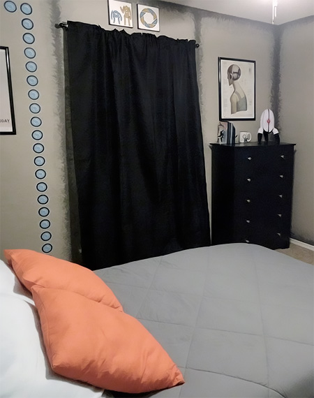 Portal Game Themed Bedroom