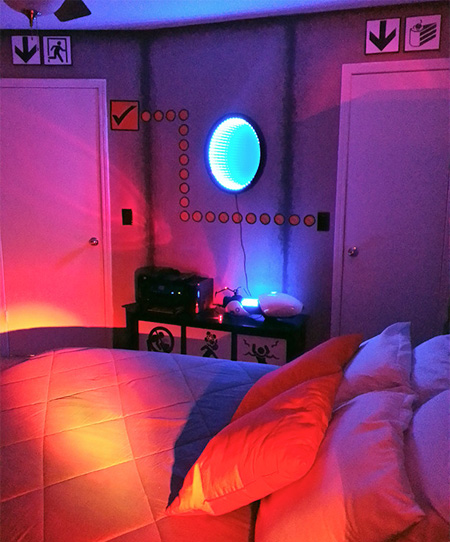 Portal Game Inspired Room