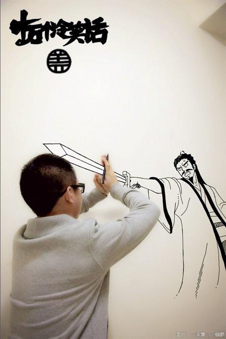 Superhero Drawings in Real World
