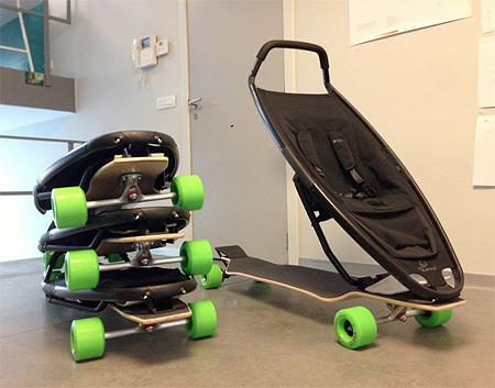 Skateboard Stroller
