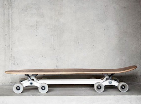 Eight Wheeled Skateboard