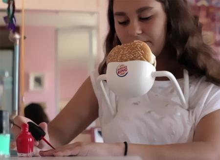 Hands Free Burger Holder