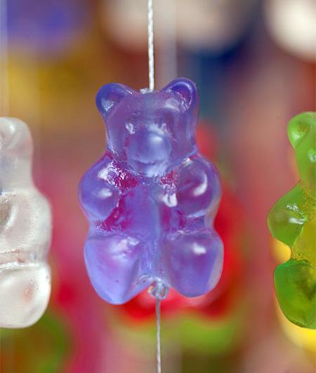 Chandelier Made of Gummi Bears
