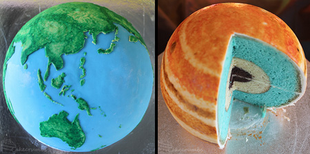 Earth and Jupiter Cakes