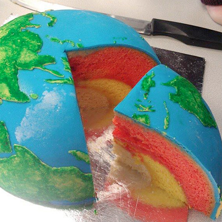 Earth Layer Cake