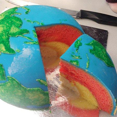 Earth Layer Cake