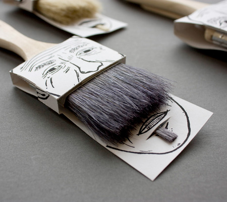 Mustache Paintbrush