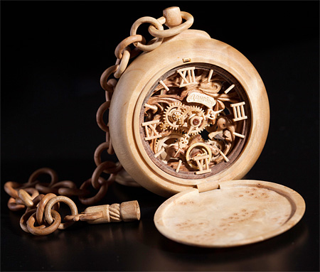Watch Made out of Wood