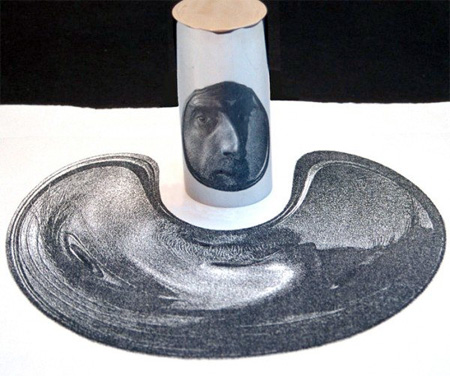 Anamorphic Drawing by Istvan Orosz