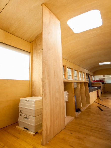 School Bus Converted into Mobile House
