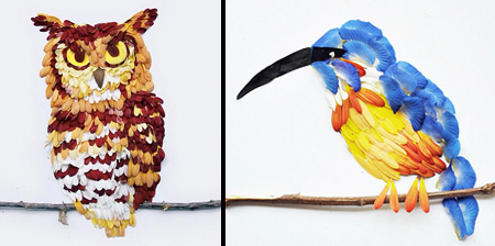Birds Made of Flowers