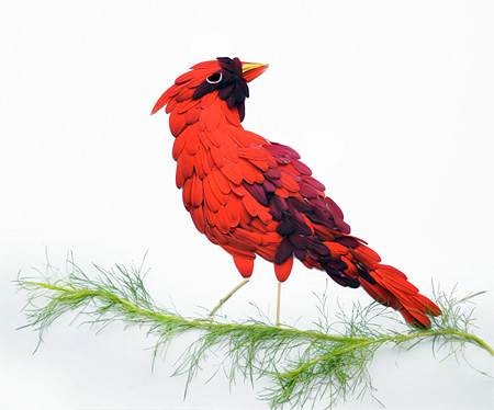 Bird Made of Flowers