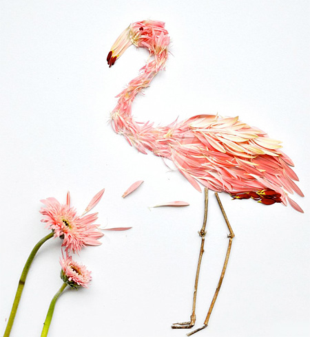 Birds Made of Petals