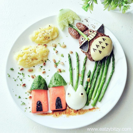 Totoro Food Art
