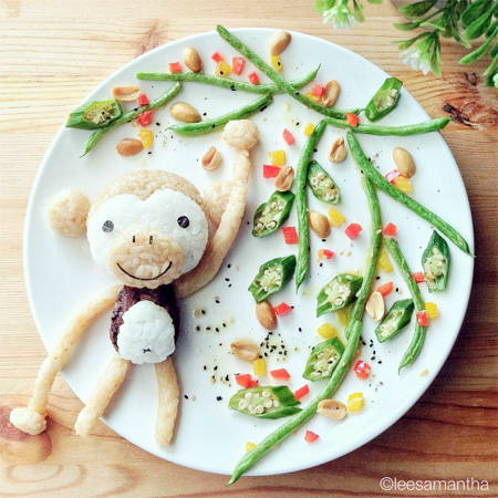 Monkey Food Art