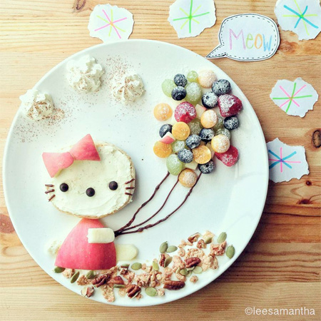 Hello Kitty Food Art