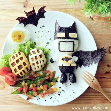 Batman Food Art