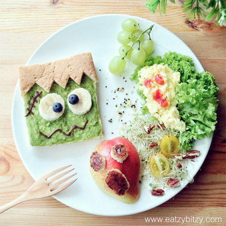 Frankenstein Food Art
