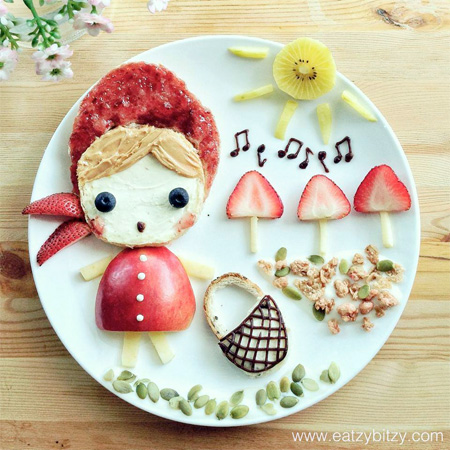 Little Red Riding Hood Food Art