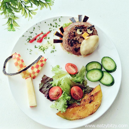 Angry Birds Food Art
