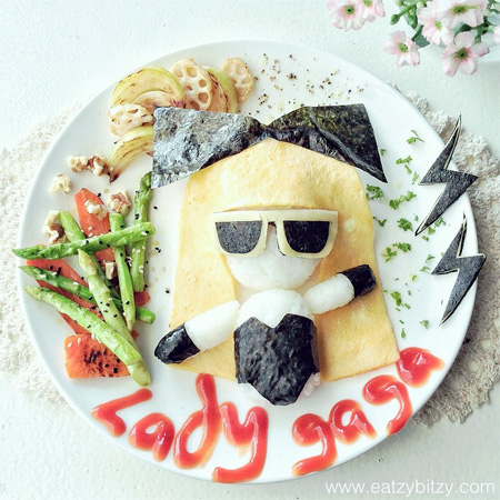 Lady Gaga Food Art