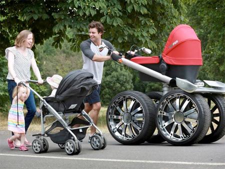 Monster Truck Baby Stroller