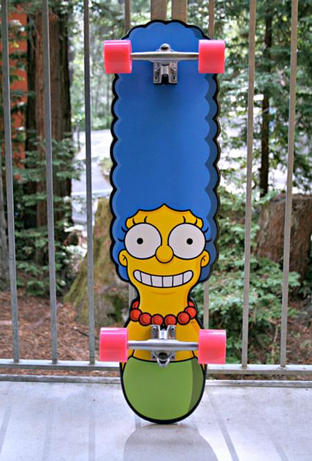 simpsons skateboard