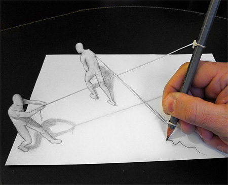 Anamorphic Drawings by Alessandro Diddi