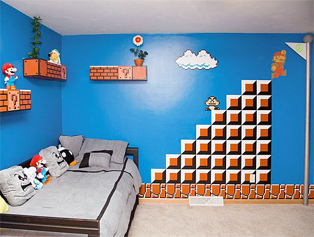 Super Mario Themed Bedroom