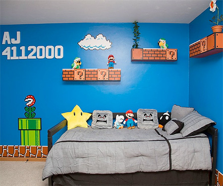 Super Mario Inspired Bedroom