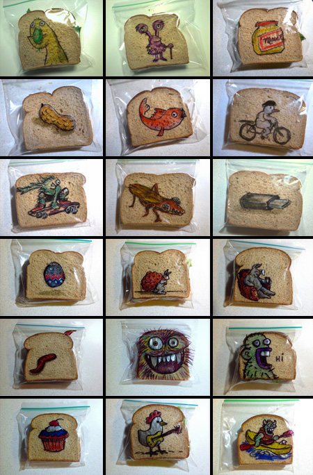 Sandwich Bag Drawings