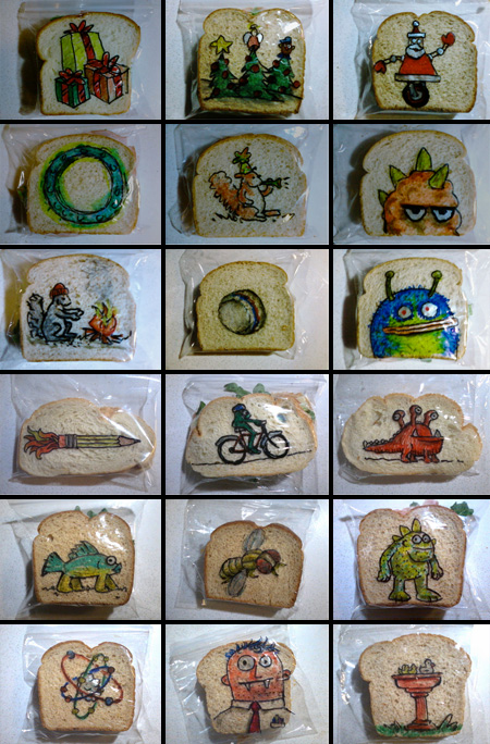 Sandwich Bag Art by David Laferriere