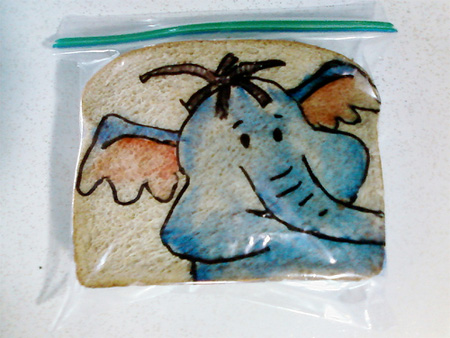 Lunch Bag Drawings by David Laferriere