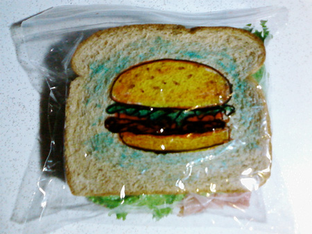 Sandwich Bag Drawings by David Laferriere