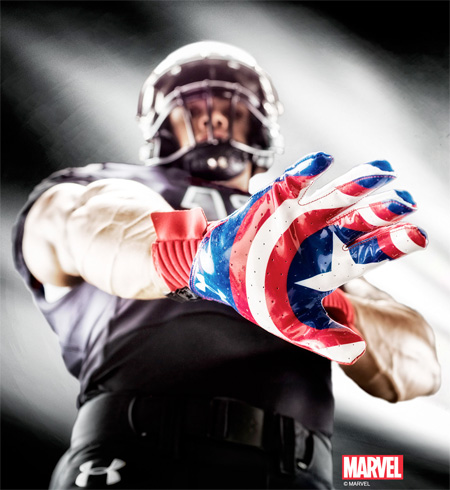 Captain America Football Gloves