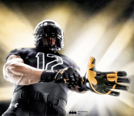 Batman Football Gloves