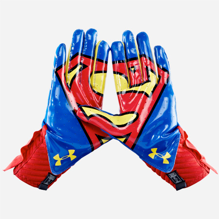 Superman Football Gloves