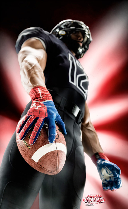 Spider-Man Football Gloves