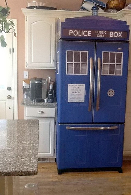 TARDIS Fridge Skin