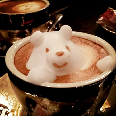 Coffee Foam Sculptures