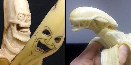 Banana Carvings