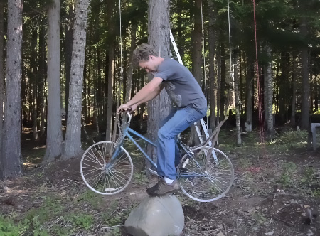 Bicycle Powered TreeHouse Elevator