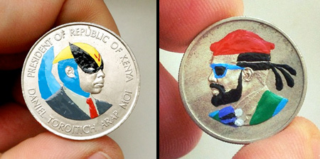 Coin Paintings by Andre Levy