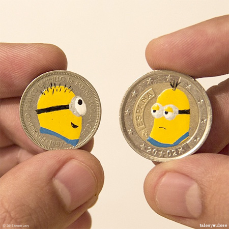 Coin Art by Andre Levy