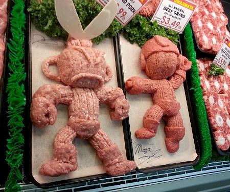 Ground Meat Sculpture
